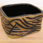 Carved Square Bowl by Suzanne Kingry