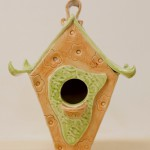Textured Bird Palace by Lindsay Philabaun