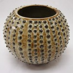 Slip Dotted Sea Urchin Pot by Mike Garnes