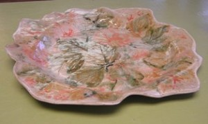 Hand _painted Leaf Platter